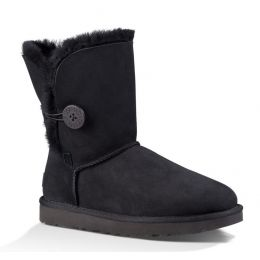 1016226 Black Bailey Button II Womens UGG Classic Short Boots