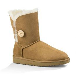 1016226 Chestnut Bailey Button II Womens UGG Classic Short Boots