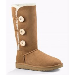 1016227 Chestnut Bailey Button Triplet II Womens UGG Tall Boots