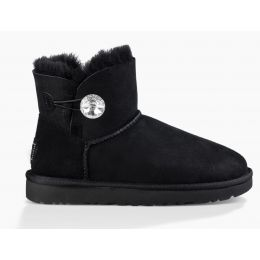 UGG Mini Bailey Button Bling Womens Short Boots 1016554