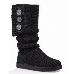 1016555 Black Classic Cardy Womens Tall and Short UGG Boots