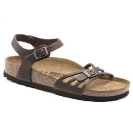 Birkenstock Habana Brown Oiled Leather Bali Womens Casual Sandals N1016920
