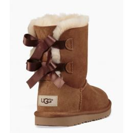 UGG Bailey Bow II Chestnut Kids Short Boots 1017394K-CHE