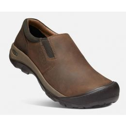 Keen Men's Chocolate Brown/Black Olive Austin Casual Slip-On 1019508