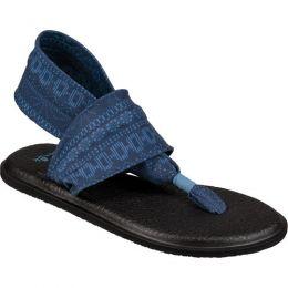 Sanuk Yoga Sling Blue Heaven Shibori Stripes Comfort Womens Sandals 1019795-BHSST