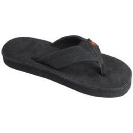 101LTSOO-PBLK-C Black Wide Strap Rainbow Kids Sandals