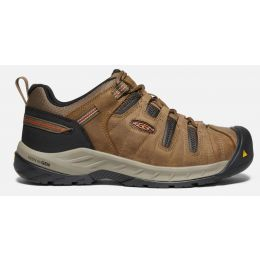 Keen Shitake/Rust Flint II Mens Steel Toe Work Shoes 1023268