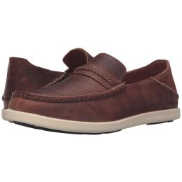 Olukai Malana Country Slip On Rum Leather Mens Casual 10309-SKSK