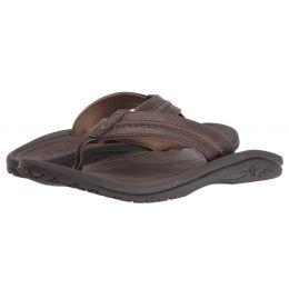 10312-6363 Dark Wood Hokua Leather Mens Comfort Olukai Sandals