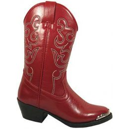 Smoky Mountain 1033 Red/Toe Rand  Kids Western 1033