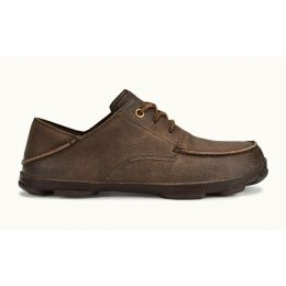 Olukai Dark Wood/Dark Wood Hamakua Poko Mens Comfort Lace Up Shoes 10342-2763