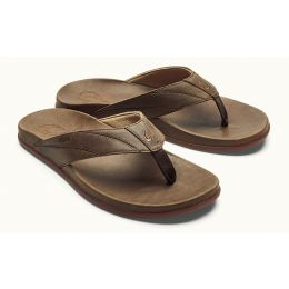 Olukai Tan Pikoi Mens Comfort Thong Sandals 10357-2727