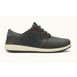 Olukai Charcoal Makia Lace Mens Comfort shoes 10362-2626