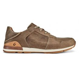 Olukai Huaka'i Li Clay Men's Waxed Nubuck Leather Sneakers 10406