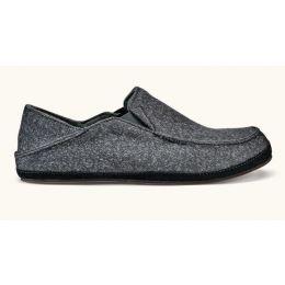 Olukai Dark Shadow Moloa Hulu Mens Wool Blend Slippers 10411-6C6C