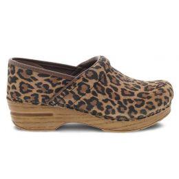 Dansko Leopard Professional Suede Womens Comfort Clogs 106-081212