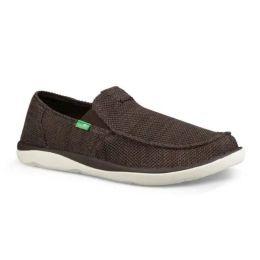 Sanuk Brown Vegasbond Tripper Mesh Mens Sidewalk Surfer Comfort Shoes 1091409