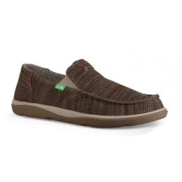 Sanuk Vintage Khaki Vagabond Tripper Mesh Mens Shoes 1091409