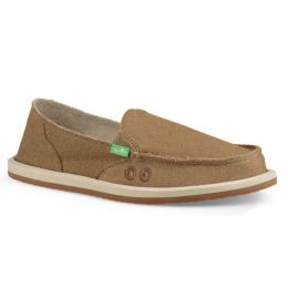 Sanuk Petrified Oak Donna Hemp Womens Sidewalk Surfers 1094449