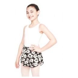 Capezio Black and White Flowers Potpourri Girls Skirt 10966C-BWW