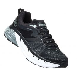Hoka Black/Wrought Iron Gaviota 2 Cushioned Mens Athletic Running Shoes 1099629