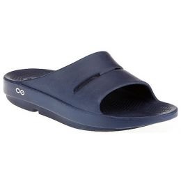 1100-NAVY OOAHH Slip-On Cushion Comfort Oofos Womens Slide Sandals