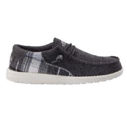 Hey Dude Men's Wally Tartan Grey Slip On Comfort Shoe 110063140