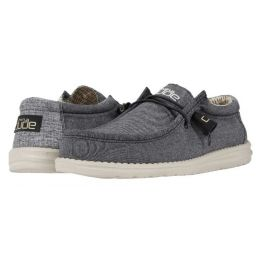 Hey Dude Chambray Black Wally Mens Casual Shoes 110064985