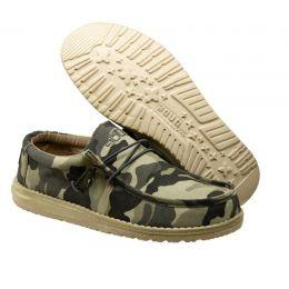 Hey Dude Camo Wally Canvas Mens Casual Shoes 110067003