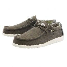 Hey Dude Green Houndstooth Wally Canvas Mens Casual Shoes 110068327