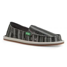 Sanuk Black Donna Keys Ranch Womens Sidewalk Surfer Slide On Shoes 1100692