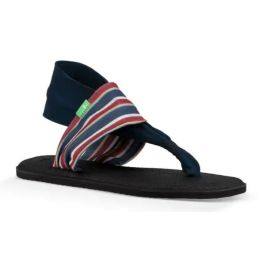 Sanuk Sand Harbor Navy Yoga Sling 2 Prints Womens Comfort Sandals 1100697