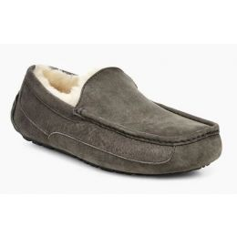 UGG Men's Charcoal Ascot Comfort Slip-On Slipper 1101110-CHRC