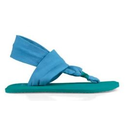 Sanuk Alaska Blue Lil Yoga Girls Sling 2 1102510Y