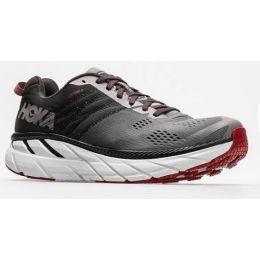 Hoka One Gull/Obsidian Men's Wide Width Clifton 6 Comfort Athletic Shoe 1102876
