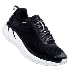 Hoka Black/White Clifton 6 Womens Running Shoes 1102873