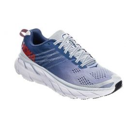 Hoka Plein Air/Moonlight Blue Mesh Womens Clifton 6 Running Sneaker 1102873