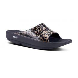 Oofos Leopard OOAHH Luxe Womens Slide Sandals 1103-Leopard
