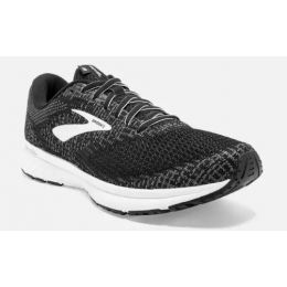 Brooks Black and Pearl White Mens Revel 3 Running Shoe 110314-012