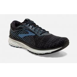 Brooks Black/Grey/Blue Ghost 12 Mens Road Running Shoes 110316-058