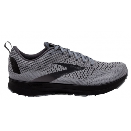 Brooks Grey and Blackened Pearl Revel 4 Mens Running Shoes 110347-096