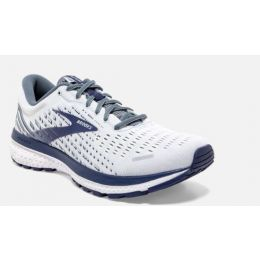 Brooks Ghost 13  White/Grey/Deep Cobalt Men's Running Shoes 110348-161