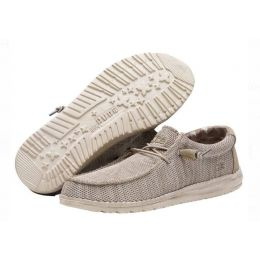 Hey Dude Beige Wally Sox Funk Mens Casual Shoes 110350500