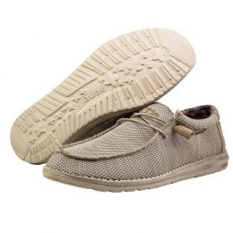 Hey Dude Beige Wally Sox Classic Mens Casual Shoes 110350504