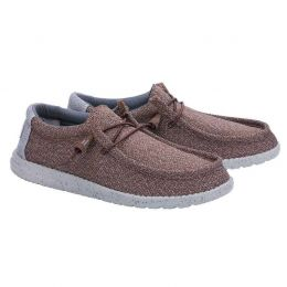 Hey Dude Brown Grey Wally Sox 2 Mens Casual Shoes 110351522