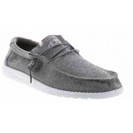 Hey Dude Grey White Wally Sox Classic Mens Comfort Shoes 110353018