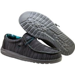 Hey Dude Charcoal Wally Sox Mens Casual Shoes 110354000