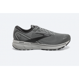 Brooks Grey with Alloy and Oyster color Ghost 14 Men's Road Running Shoes 110369-067