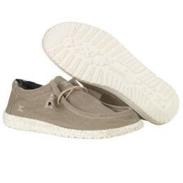 Hey Dude Beige Wally Stretch Mens Slip On Casual Shoes 110380500