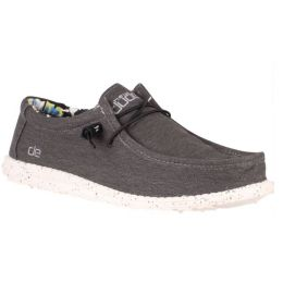 Hey Dude Black Wally Stretch Mens Casual Shoes 110384900